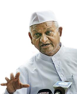 Anna Hazare dalong fasting