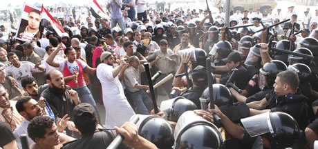 egypt-protesters-security-clash